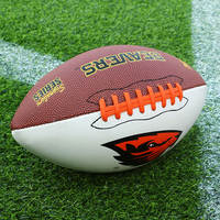 High Quality Wholesale Custom Official Size Pu Rubber American Football Ball