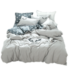 100% cotton quilt set star pattern king size bedding set for home