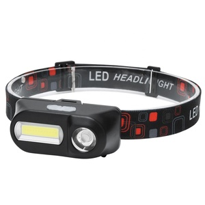 USB Rechargeable Mini Head Lamp Lightweight COB Led Headlamp Torch