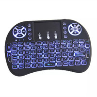 Hot selling 2.4g backlit touchpad mini i8 wireless keyboard with mouse built in