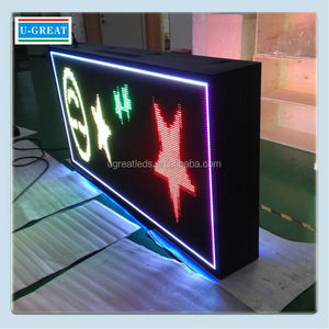 Alibaba in russian outdoor RGB full color portable led neon sign board