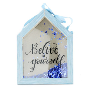 House Shape Wooden Decoration Wall Hanging Photo Frame
