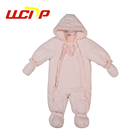 High quality cute winter new born children clothes long sleeve romper hooded baby jumpsuit