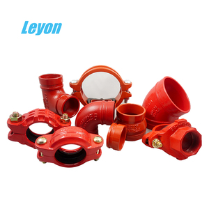 Ductile Iron Fire Grooved Equal Tee Fittings Grooved 90 Elbow Cast Iron Pipe Cap Flexible Coupling Spray Paint 90 Reducing Elbow