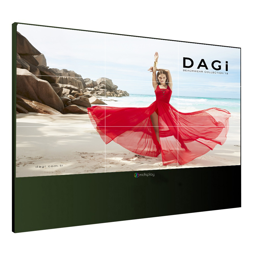 DP 4 K lcd tv werbung video wand touch-display halterung mit Original midisplay Panel 3,5mm Lünette