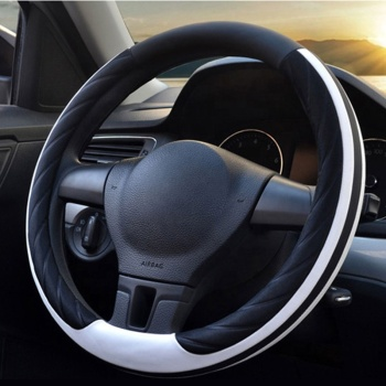 Universal 38Cm Breathable Anti-Slip Protector PVC Car Steering Wheel Cover