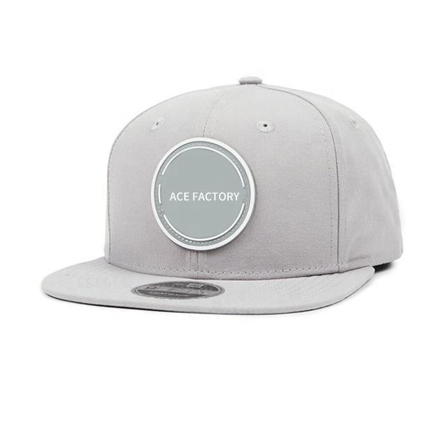 Guangzhou Factory Wholesale OEM ODM Manufacturer Custom 5 Panel Rubber Patch Logo Snapback Hats