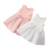wholesale 2019 Summer boutique girls wedding dresses cute baby girls sleeveless bow kids party dresses