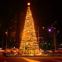 LED Solar Festival Light Outdoor Christmas Street Light Christmas Tree
