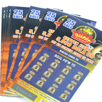 Factory Custom Design Promotional CMYK Printing Scratch Off Lotto Coupon Cards