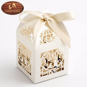 2019 Laser hollow candy box cases  wedding Souvenir cheaper box customized size and color festival box