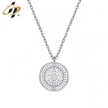 Best quality Korean version Minimalist Planet Coin Gold Silver Rose Gold Necklace Clavicular chain