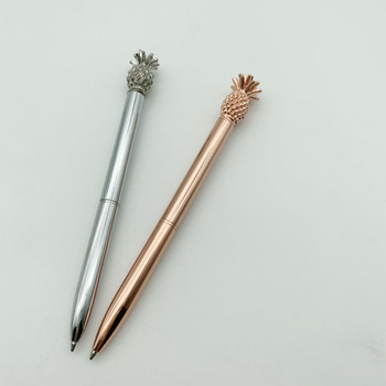 Lovely pineapple ballpoint pen business gift metal pen custom advertising metal pineapple ball pen