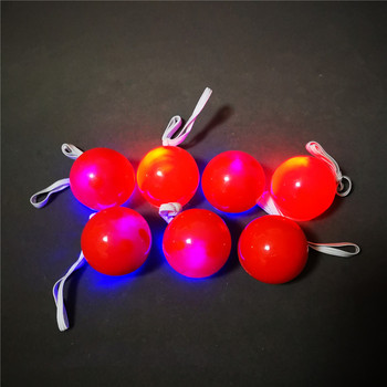 LED flashing funny party light up red clown nose