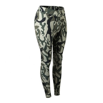 Women Gym Fitness Leggings Elastic High Waisted Camo Workout Pants