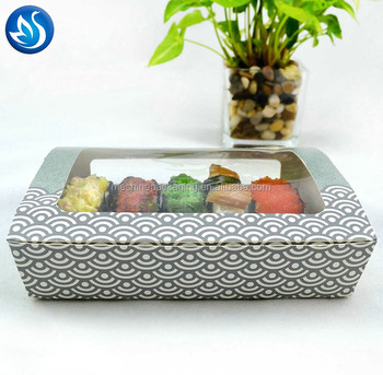 High Quality Custom Design Square Art Paper Food Packaging Carry Sushi Box