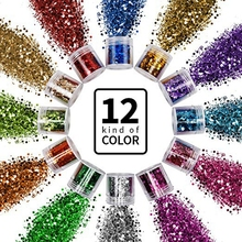 Hoge Kwaliteit Modieuze Nail Gezicht Eye Body Tattoo Sprankelende Cosmetische <span class=keywords><strong>Shimmer</strong></span> Chunky Glitter Poeder