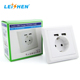 Hottest favorable EU electrical USB 2.4A wall power socket charger outlet New Germany type electrical USB Wall Socket 220V EU