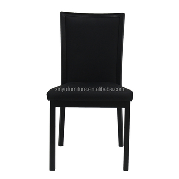 Modern restaurant wood imitated black leather dining chair