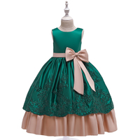 New Arrival Fashion 9 Years Ols Girls Simple Design Kids Long Frock Party Wear Dress LP-220