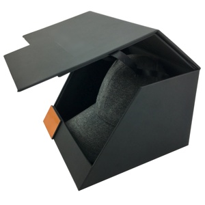 Flat Bill Snapback Hat Flat Brim Baseball Cap Black gift packaging box