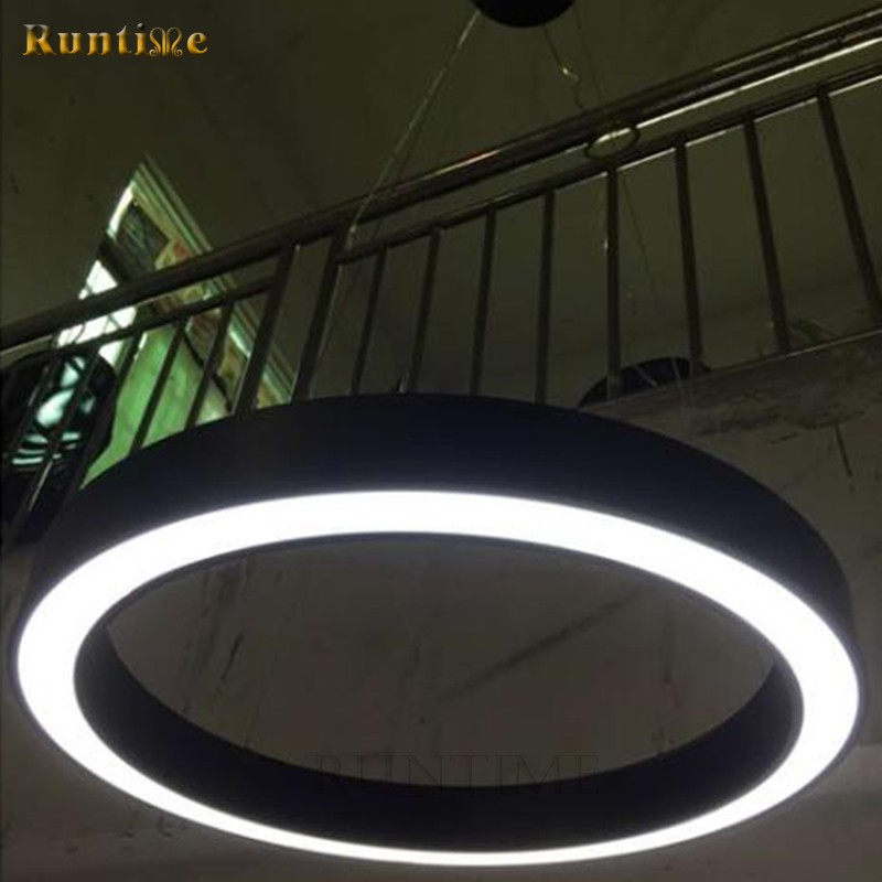 Dia50cm 36 W Matt White Metal Body Acrylic Diffuser Modern LED Ring Pendant Lamp RT3145