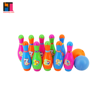 wholesale indoor sport mini bowling pins plastic kids bowling play set