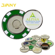 Custom Made Magnetische Golf Challenge Coin Bal <span class=keywords><strong>Marker</strong></span>, Metalen <span class=keywords><strong>Golfbal</strong></span> Markers met Magnetische Poker Chips