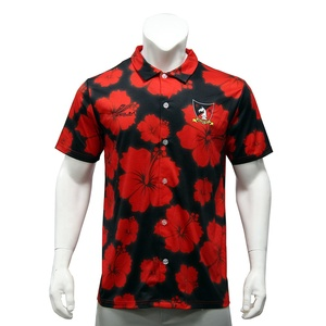 High Quality 100%Polyester Wholesale Golf Shirt Sublimated Printing Design Your Own Polo T Shirt Clothing