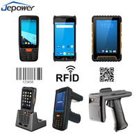 Android 5 inch 3g 4g pda phone with 1d 2d barcode scanner