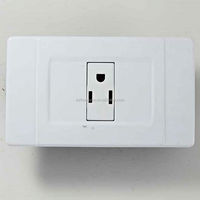 White absthree holet American wall socket,wall mounted universal socket