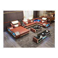 European Design Sofa Furniture Set Real Leather Sofa Living rooms sofas 5 6 7 seats with USB bluetooth music player functions
