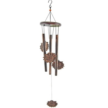 Wholesale Metal Wind Chime Pipe and Sun Shaped Decoration For Home Decoration / Birthday Gift