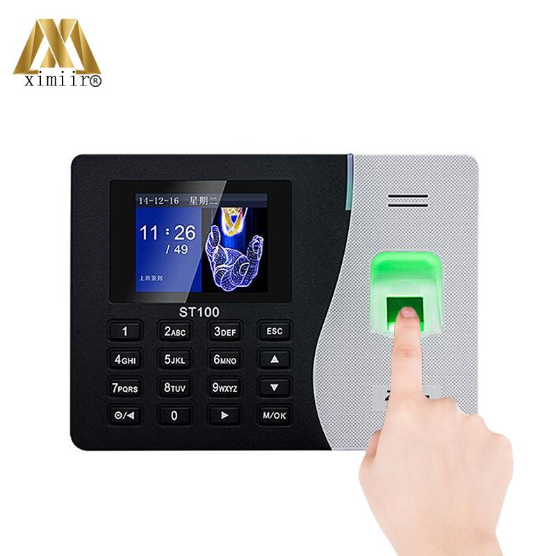 ZK ST100 Fingerprint Time Attendance Machine With Battery SSR Function  USB/TCP/IP Biometric Fingerprint Time Free Software, View Time Attendance
