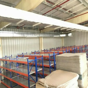 Q235 steel warehouse storage panel medium duty long span rack