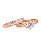 12814 Latest Ladies Engagement Wedding Gold Ring Design Couples Rings Jewelry