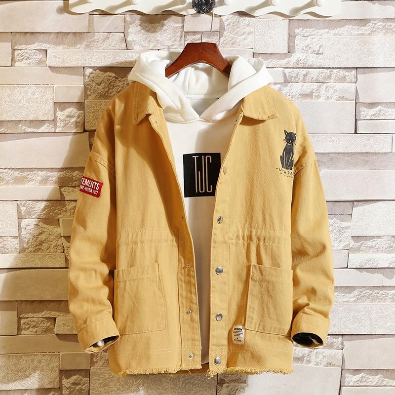 High quality Printed mens denim jacket,denim jacket for men