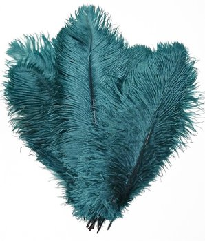 10-12 inches Ostrich Feather Real Natural Feather for Home Decor Party Wedding Decorations (Teal)