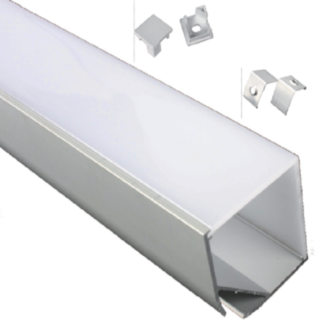 profil en <strong>aluminium</strong> large led/perfil de aluminio de ancho para tiras de led/anodized wide <strong>aluminium</strong> profile for led strips