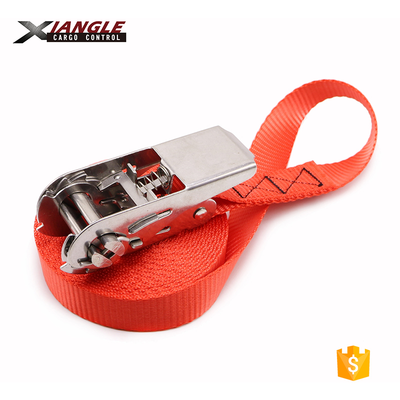 800KGS (1760LBS) Heavy Duty Endless 304 or 316 Stainless Steel Ratchet Tie Down Straps Ratchet