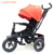 Online shipping buy cheap price pink love stroller 3 in 1 best baby tricycle with push handle and canopy
