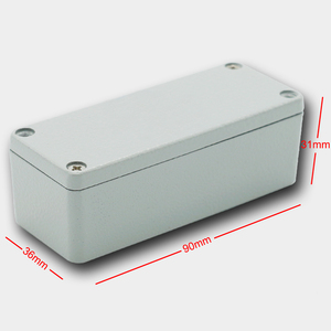 Color customized 90*36*31MM IP67 sealed electrical aluminum housing with OEM service made in China