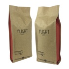 custom printed foil lined side gusset valve Recyclable kraft paper bag for coffee bean 250G 500G 1000G 1Kg