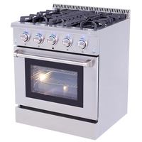 CSA approval 36 inch stainless gas range with grill top