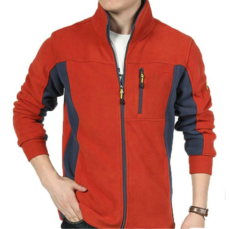 Winter Cheap Hiking coat Stand Collar high quality custom logo men polar fleece Jacket