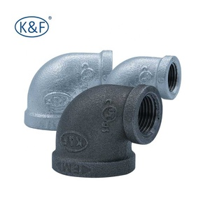 industrial malleable casting iron pipe fittings elbow 90 reducing