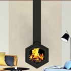 popular design suspended fireplace stoves wood burning or bio fireplace