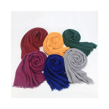 Hot Sales Different Colors Choice Fashion Stylish Cotton Linen Scarf Women Scarves Shawls