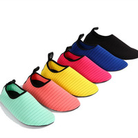 Skin-Friendly yoga swimming colorful ventilation elastic soft beach water shoes