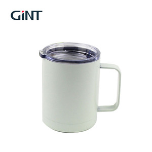 2019 new product stainless steel white coffee mugs with handle